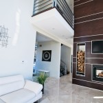 Springwater Residence Fireplace and Living Room