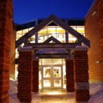 Mundys Bay Public School Main Entrance At Night